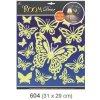 Pokojová dekorace svítící ve tmě motýli 31x29cm 604, Anděl Přerov Anděl Přerov
