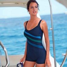 Blancheporte Jednodílné plavky s nohavičkami nám.modrá/modrá
