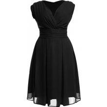 32456eef3a7 Kartes Moda šaty dámské KM117-1PS šifon obálkový výstřih černá