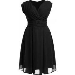 701acb4ebf5a Kartes Moda šaty dámské KM117-1PS šifon obálkový výstřih černá od 1 ...