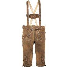 pánské krojové kalhoty s výšivkou, Marjo, hnědá
