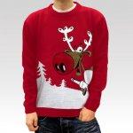 Pánský vánoční svetr se sobem Drunk Reindeer červený. 999 Kč bda7cabc47