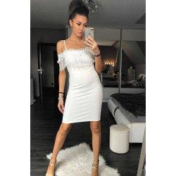 5d60157294b Dámské šaty Emamoda Sexy krajkové šaty bílá