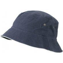 Bavlněný klobouk MB012 Tmavě modrá   bílá 9faac799be