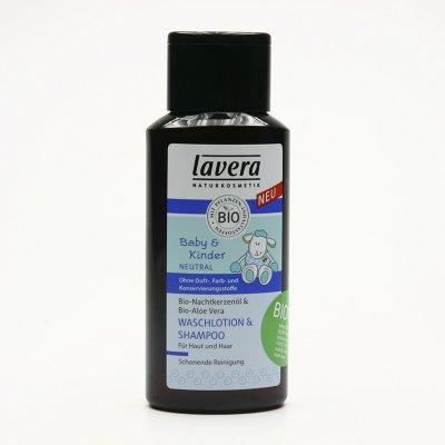 Lavera Baby & Kinder Neutral vlasový a tělový šampon 200 ml