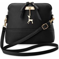 dámská kabelka kufřík s přívěskem ve tvaru srnky černá od 199 Kč ... 37c72b650fb