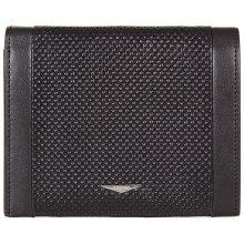 GIUDI pánská černá kožená peněženka 7434