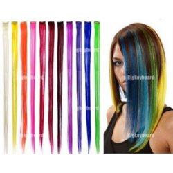 Barevné prameny do vlasů - příčesy Clip-in béžové alternativy ... bd22d0dac9