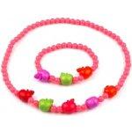 Stoklasa Dětská sada náhrdelník a náramek růžová