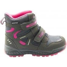 Bugga Dívčí zimní boty - šedo-růžová 67bca48d16