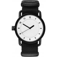 TID Watches No.1 White / Black Nylon Wristband