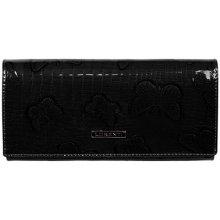 Lorenti Dámská italská kožená velká černá peněženka 72401 RSBF BLACK