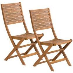 Zahradní židle a křeslo FDZN 4012 Skládací židle 2 ks Fieldmann