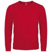 Tričko s dlouhým rukávem Červená