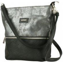 Dawidex Crosbody kabelka přes rameno šedá černá