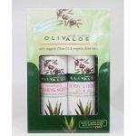 OlivAloe Natural cosmetics tělové mléko Q3 & Q6 90 ml + Peelingový pěnivý gel na tvář a tělo 90 ml dárková sada