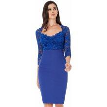 45f6f5d92f7c City Goddess · korzetové · CityGoddess krajkové midi šaty Joya královská  modrá