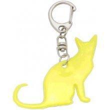 Přívěsek na klíče CAT reflexní na klíče 5 5 cm žlutý CAT KEY REFLEX