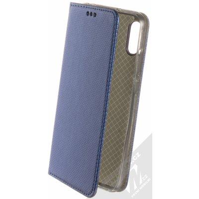 Pouzdro Sligo Smart Magnet Huawei Y6 Prime 2019 Y6s Honor 8A tmavě modré