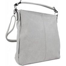 e1be4a26ce moderní dámská kombinovaná kabelka se stříbrnou linkou 3067-DE bílá