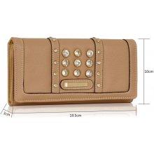 LS Fashion Hnědá dámská peněženka lsp1041 Nude f8014b939bf