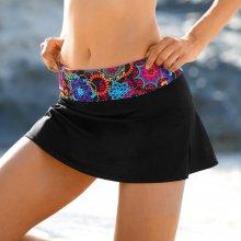 Blancheporte Plavkové kalhotky se sukénkou a potiskem rozet vícebarevná