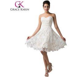 881e6988684 Grace Karin společenské šaty krátké GK000118-1 bílá šampan