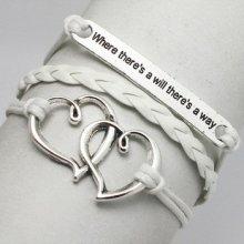 HGM náramek srdce bílý 175169866
