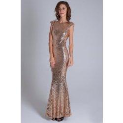 cbf6834b73d8 Recenze Soky Soka dámské šaty s krátkým rukávkem flitrové dlouhé ...