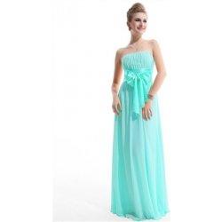 170f88a0a3da Tyrkysové dlouhé šifonové šaty bez ramínek na svatbu ples ...