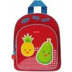 KIDZROOM batoh Veggies s taškou červený ananas