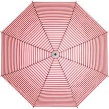 Dámský holový deštník MARINE červený proužek