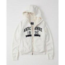 8b3712ea19c Abercrombie   Fitch dámská zimní mikina s kožíškem new bílá