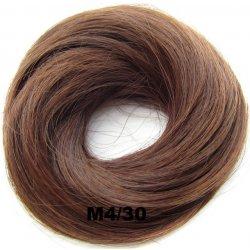 Světové zboží Příčesek - drdol na gumičce střapatý - M 4 30 (mix čokoládově 49d560fd4a