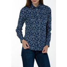 Gant dámská Košile GANT STRETCH BROADCLOTH MINI FLORAL SHIR modrá