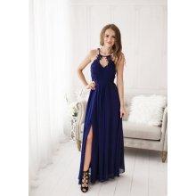 d8a59444d5f4 Dámské plesové a společenské dlouhé šaty Juliette modrá
