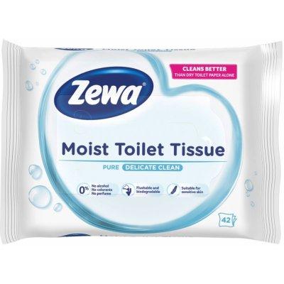ZEWA Pure vlhčený bílý 42 ubrousků