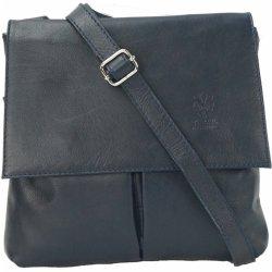 f2c898552a Vera Pelle kabelka kožená crossbody tmavě modrá kabelka - Nejlepší ...