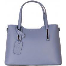 9b98d390923 Italské Velké kožené kabelka v trendové modré barvě Carina