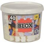 Simba Blox 40 Kostičky bílé v boxu