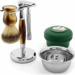 Trendhim Tradiční set na holení Imitace rohoviny Traditional_Faux_Horn_Shaving_Set