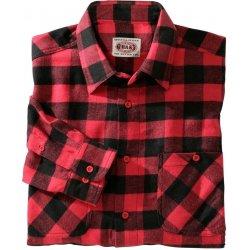 Blancheporte Kostkovaná flanelová Košile červená černá 3361f9a678