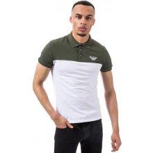 Armani Mens Panel Polo Shirt Green