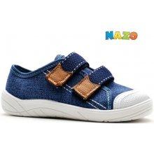 Nazo 032 AB modré jeans dětské letní boty i přezůvky 8abd90e625