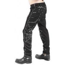 Gotické kalhoty pánské dlouhé s pavučinou