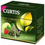 Curtis zelený čaj Strawberry Mojito pyramidové sáčky 20 x 1.8 g
