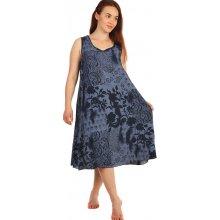 a82584f4a38d Dlouhé letní květinové šaty 234268 tmavě modrá
