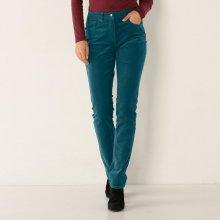 e4ccba07b94f Blancheporte Rovné manšestrové kalhoty ledově modrá