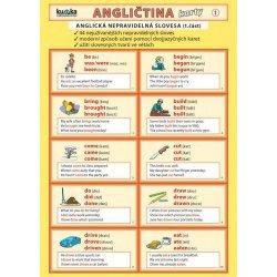 47b0c081299 Angličtina karty 1 - nepravidelná slovesa - skládačka A4 8 stran