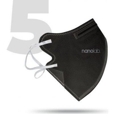 Nanolab bezpečný nano respirátor FFP2 černý 5 ks